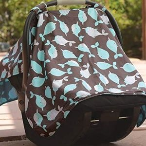 Narwhal Carseat Canopy Cover